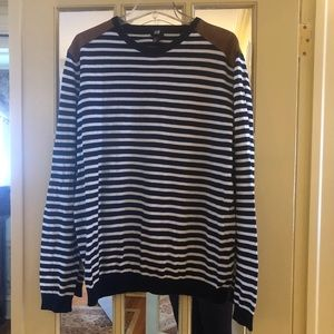 H&M black and white striped sweater. Size XL